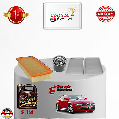 Kit Inspección Filtros + Aceite Alfa Romeo Gt 1.8 Ts 103KW 140CV...