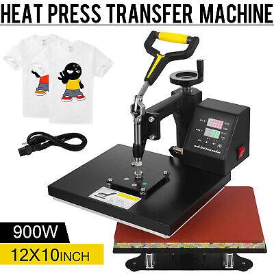 12 X 10 Digital Heat Press Machine Transfer Swing Away Sublimation For T-shirt