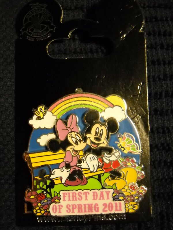 First Day of Spring 2011 - Mickey and Minnie Disney DLR Pin NEW