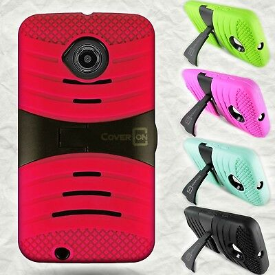For Motorola Moto E (2nd Generation 2015) Case Protective Hybrid Kickstand Cover (Motorola 2nd Generation Cover)