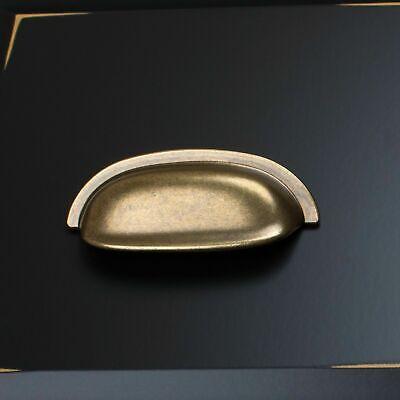"10X GlideRite 2-1/2"" Antique Brass Classic Bin Cabinet Hardware Pull 4081-AB-1"