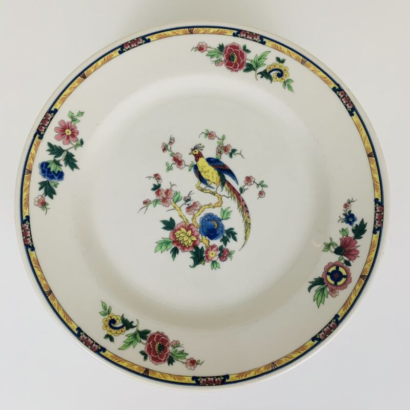 "Vintage Syracuse China Bird of Paradise Dinner Plate Set of 6 - 10"" wide"