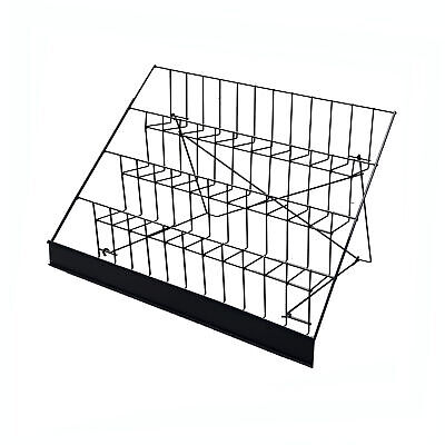 4-tier 29 Wire Display Rack Literature Brochure Magazine Stand Book Tabletop