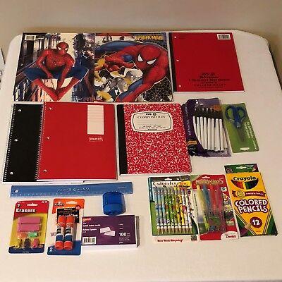 Back to School Essentials Supplies Kit Bundle Lot Grades K-8 Notebooks Pens (Notebook Bundle Kit)