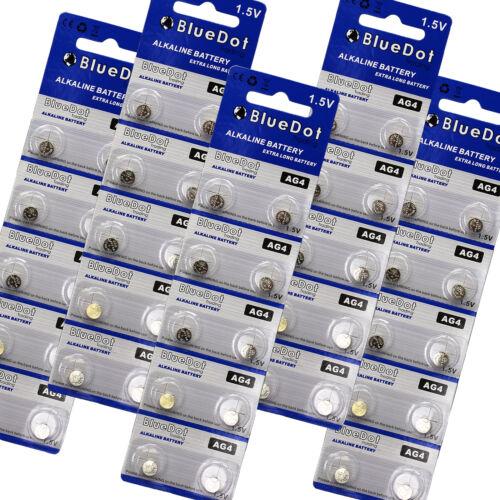 50-pack AG4 SR626SW 626 377 LR626 SR626 626A BlueDot Small Watch Battery USA