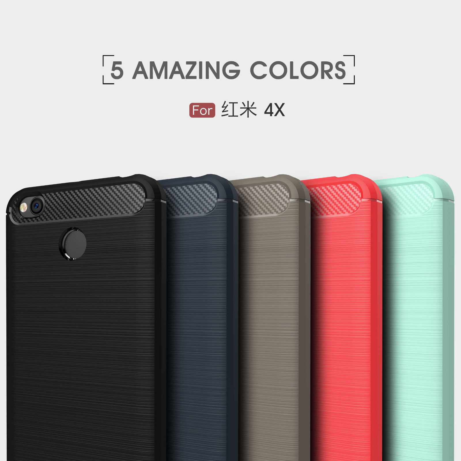 For Xiaomi Redmi Note 5 Pro 4x Plus S2 6a Brushed Soft Rubber Case Ipaky Carbon Fiber Matte Tpu Cover