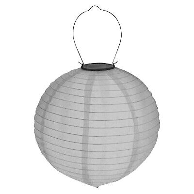 LED Solar Lampion ø 30cm Garten Laterne Lampenschirm Party Deko Gartenlampion