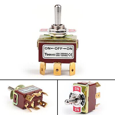 1pcs Toowei 3 Terminal 6pin On-off-on 15a 250v Toggle Switch Lock Dp3t Grade U9