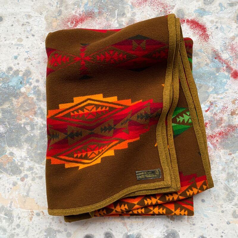 Antique 1920s Pendleton Beaver State Wool Blanket 55x73 Copyright 1923 Vintage