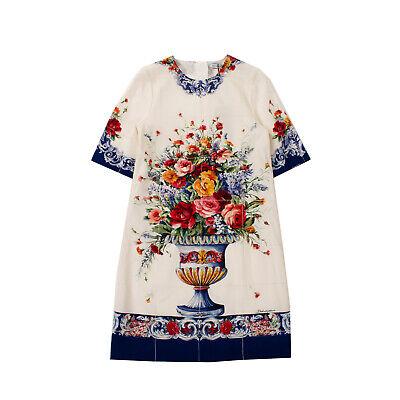 RRP €835 DOLCE & GABBANA Sheath Dress Size 11-12Y / 144-156CM Silk Blend Floral