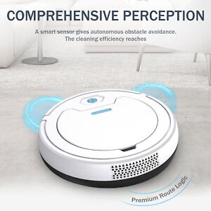 3in 1 Robotic Vacuum Cleaner Automatic Sweeper Floor Carpet Clean Rechargeable