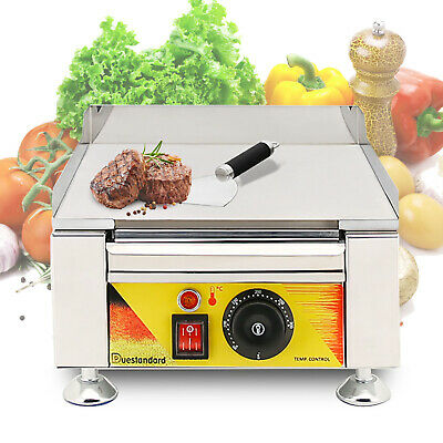 Commercial Electric Food Griddle Grill Countertop Flat Bbq Grill Cooking 2000w