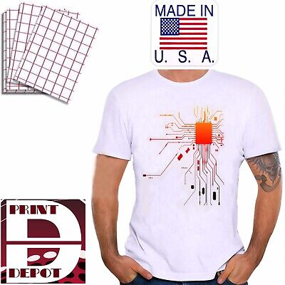 Heat Transfer Paper Iron On Light For Ink Jet 20 Sheets Pk 8.5x11 Usa Made