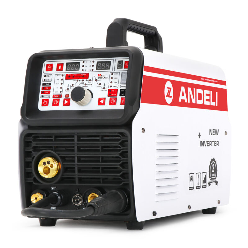 ANDELI 220V MIG TIG CUT COLD&MMA with out Gas Multi-function Welding Machine