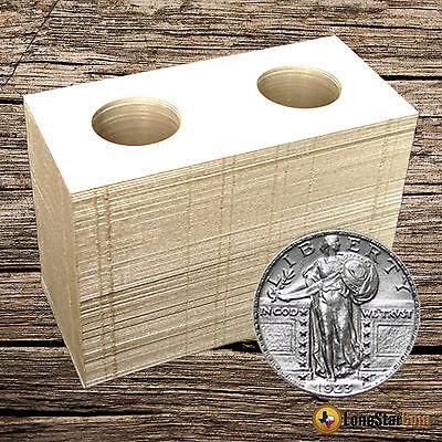 25 2x2 QUARTER Mylar Cardboard Coin Holder Flips - Coin Supplies