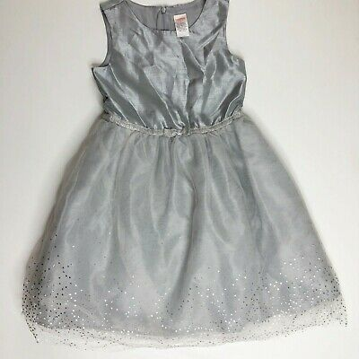 Gymboree Girls Silver Sparkle Tulle Dress 6 Best In Blue