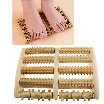 1tlg Fußroller Holz Fußmassagegerät Entspannungsrolle Fußreflexzonen Massage
