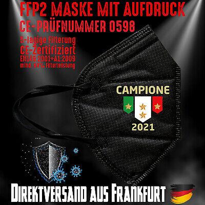 FFP2 Maske Atemschutzmaske Mundmaske Italien Italy EM Fußball Campione 2021