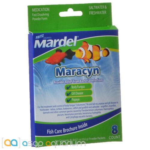 Maracyn Powder 8 Ct Antibacterial Tropical Aquarium Fish Medication Fritz Mardel