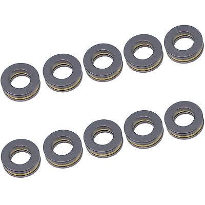Us Stock 10pcs F7-13m Axial Ball Thrust Bearing 3-parts 7mm X 13mm X 4.5mm