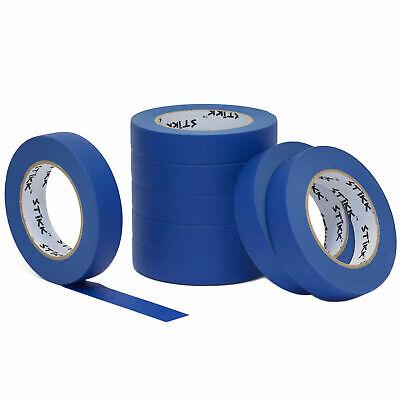 8 Pack 1 Inch X 60 Yard 24mm X 55m Stikk Blue Painters Masking Tape