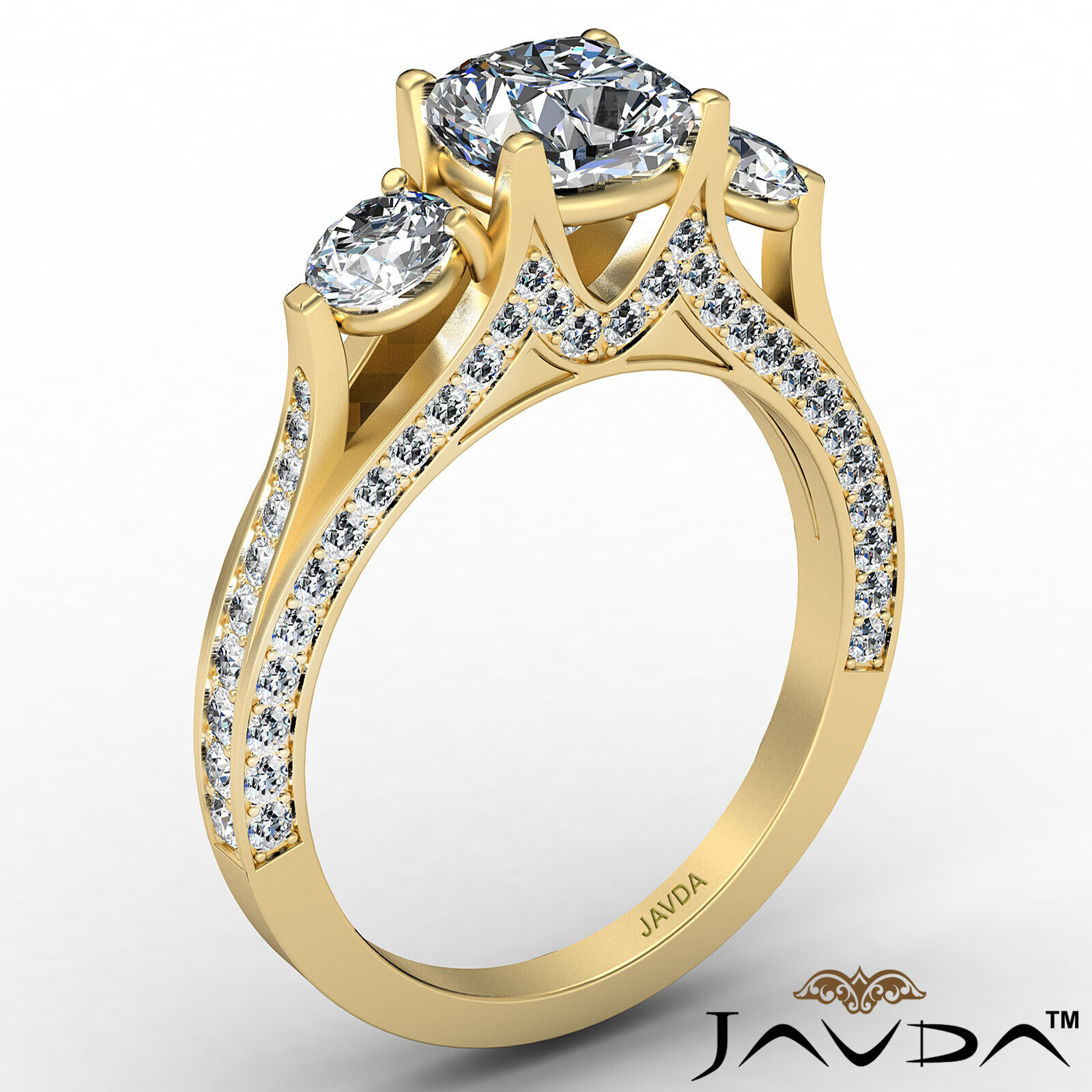 Cushion Diamond Engagement Ring Certified by GIA E Color & VVS1 clarity 2.1 ctw 4