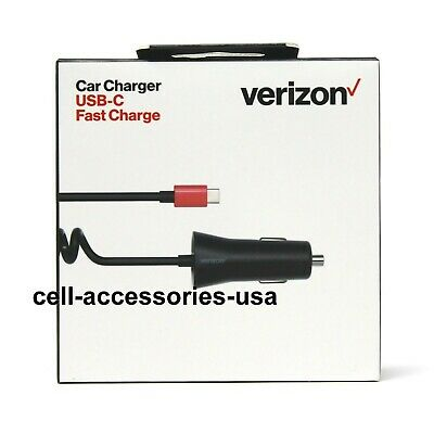 Verizon OEM Car Charger Type USB-C Fast Charge for Samsung / LG / HTC / Google