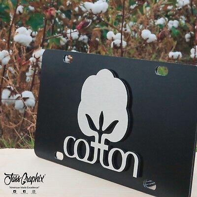 2D Black Cotton License Plate Heavy Duty Brushed Aluminum Cotton Car Tag Heavy Brush Cotton