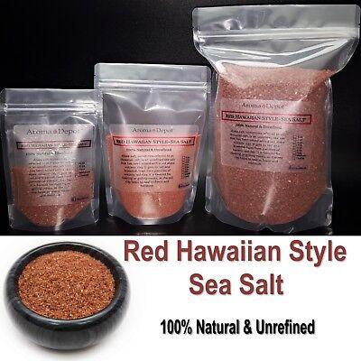 - Premium Red Hawaiian Style Sea Salt Gourmet 1 oz to 6 Lb Natural Alaea Salt