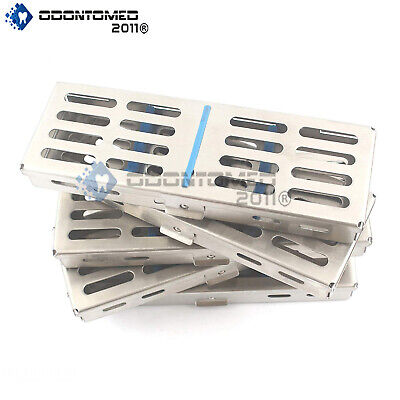 10x 5 Instrument Dental Surgical Sterilization Autoclave Cassette Tray Stainless