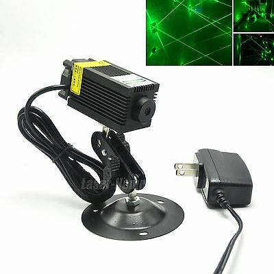 532nm 100mw Green Laser Dot Diode Module Fan 12v Adapter Holder Long Time Work