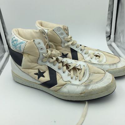 Pair Of 1980 s Isiah Thomas Signed Game Used Converse Sneakers Shoes PSA DNA 8ae8dcf0e