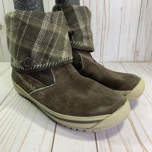 Timberland Mukluk Suede Winter Snow Boots Brown Womens Size