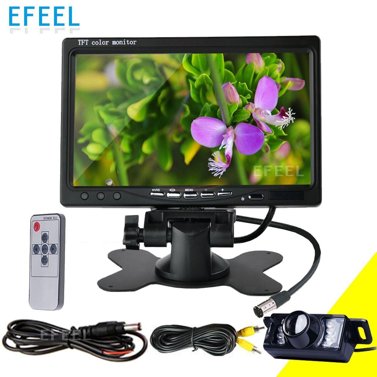 "HD Car Rearview Mirror Monitor Rear View Backup Camera System 7"" TFT LCD Screen"