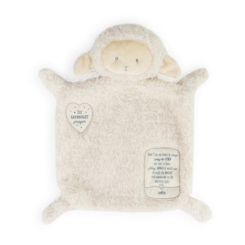Demdaco White Lamb Goodnight Prayer Plush Children