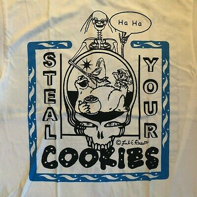 New Online Ceramics Steal Your Cookies T Shirt Grateful Dead Cookie Monster