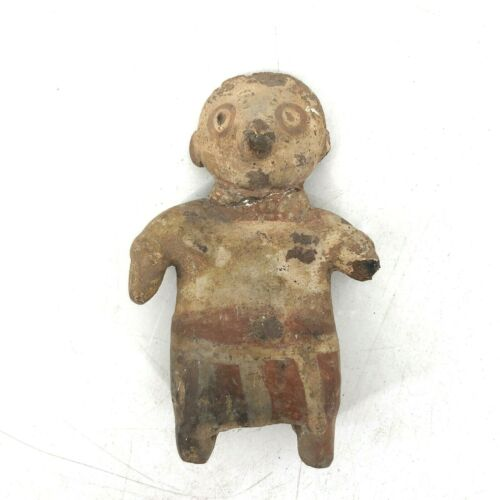 Nayarit Clay Art Figure Man Antique Ethnic Aboriginal Sculpture Early Primitive