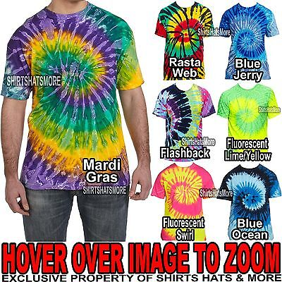 Mens  Tie-Dye T-Shirt 100% PRESHRUNK Cotton  Adult Tye-Die Tee S, M, L, XL NEW Adult Tye Dye T-shirt