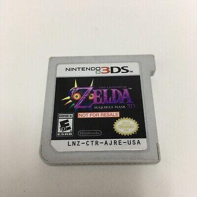 Nintendo 3DS Zelda Majora's Mask 3D Demo Not For Resale Version Cartridge Only