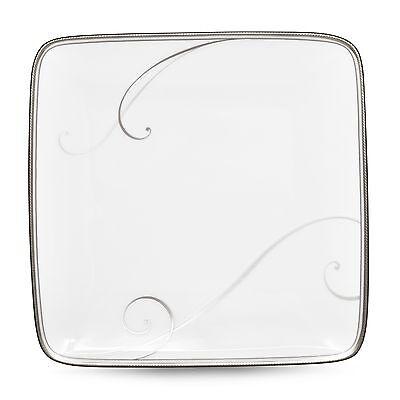 Platinum Small Square Plate - Noritake Platinum Wave Small Square Plates, Set of 4