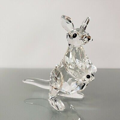 Swarovski Crystal Mother Kangaroo with Baby 7609 A NR 000 001 Box COA 181756