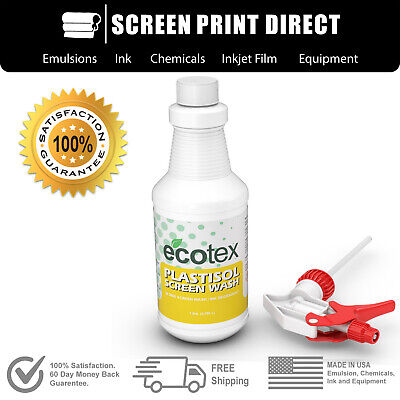 Ecotex Plastisol Screen Wash - In Sink Screen Wash Ink Degradent - Quart 32oz