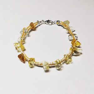 Various semiprecious stone and crystal bracelets