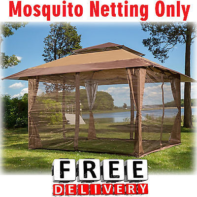 Netting Mosquito Screen Gazebo 10x10' Insect Patio Tent Shade Protection Garden