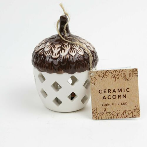 Fall Harvest Decor - Ceramic LED Light-Up Acorn - Bed Bath and Beyond