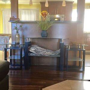 Console/Sofa Table & 2 Matching End Tables