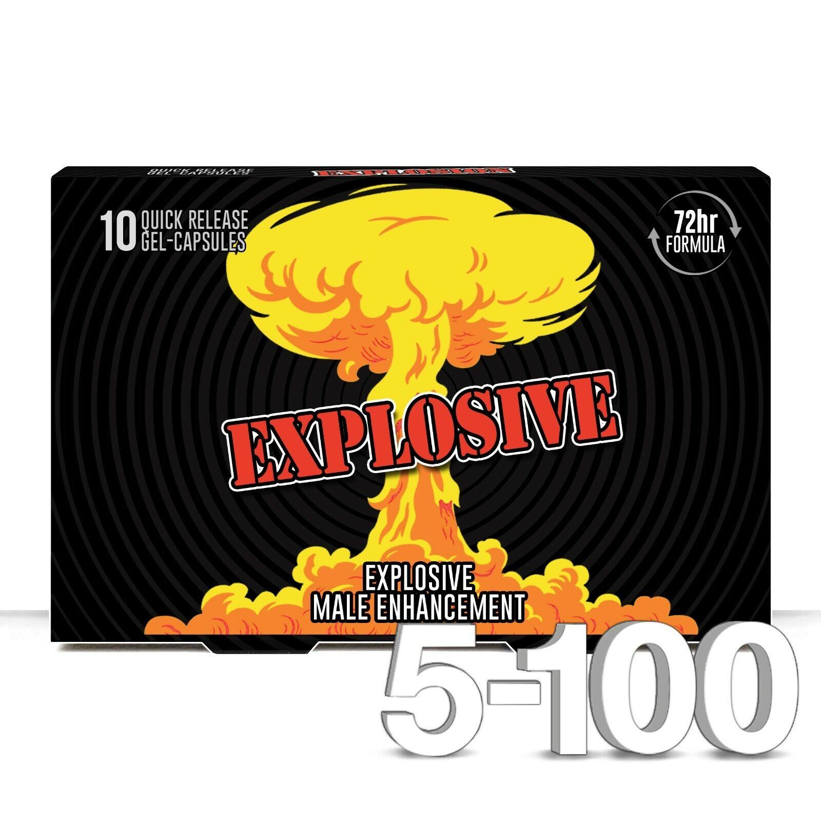 EXPLODE Male Enhancement / Sex Pills for Maximum Erectile Support