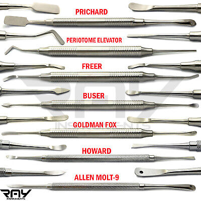 Set Of 7 Periosteal Elevator Pritchard Dental Implants Surgery Instruments Tools
