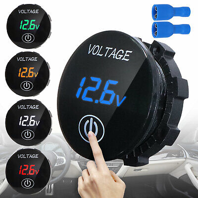 Dc 5v - 48v Waterproof Touch Led Panel Digital Volt Meter Display Car Motorbike