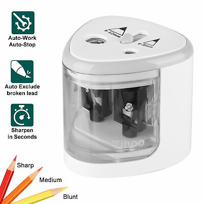 Automatic Electric Pencil Sharpener Switch Office Home School Classroom For Kids